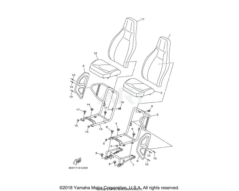 Yamaha OEM 2HC-F473D-00-00 FRAME, SEAT 2