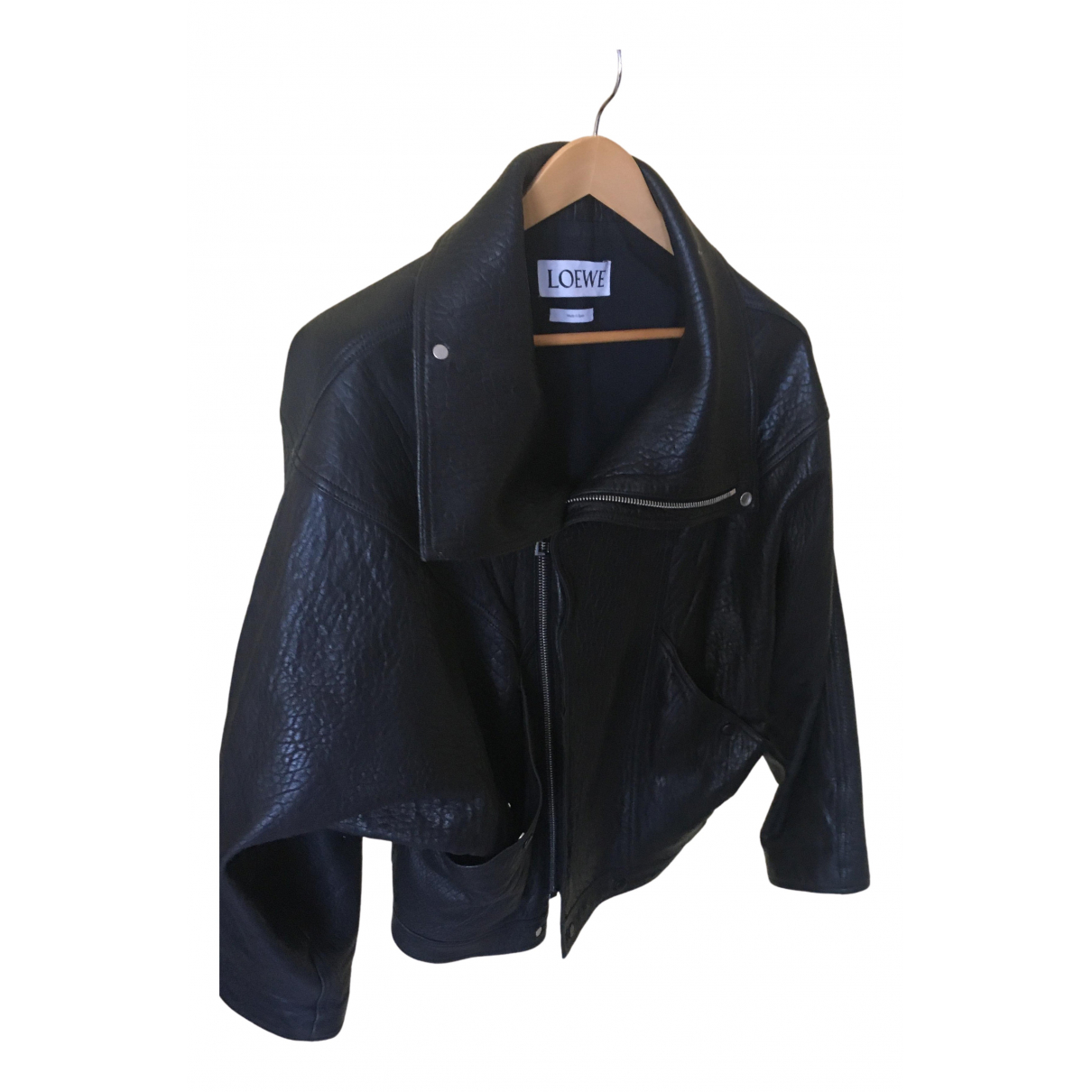 Loewe N Black Leather jacket  for Men 56 FR