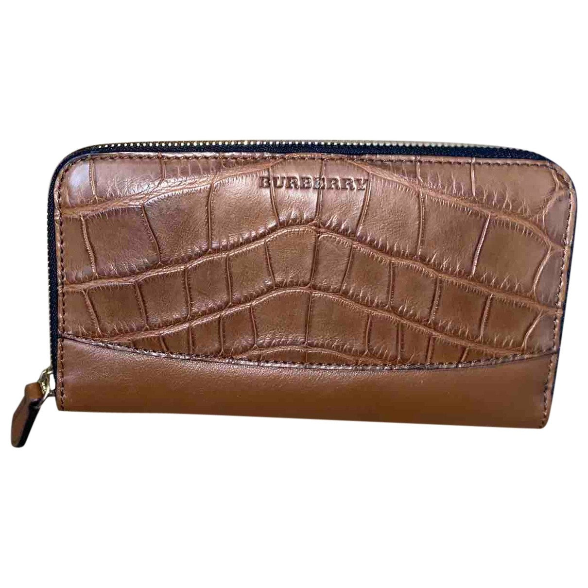 Burberry \N Brown Alligator wallet for Women \N