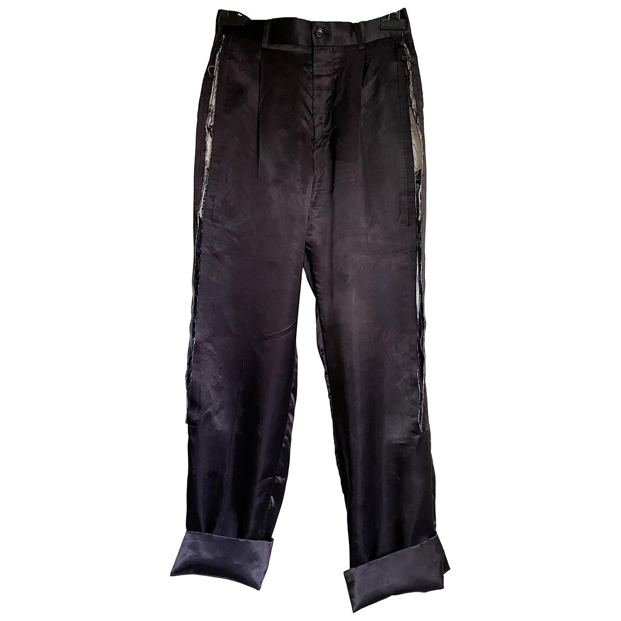 Pantalon recto de Seda Comme Des Garcons