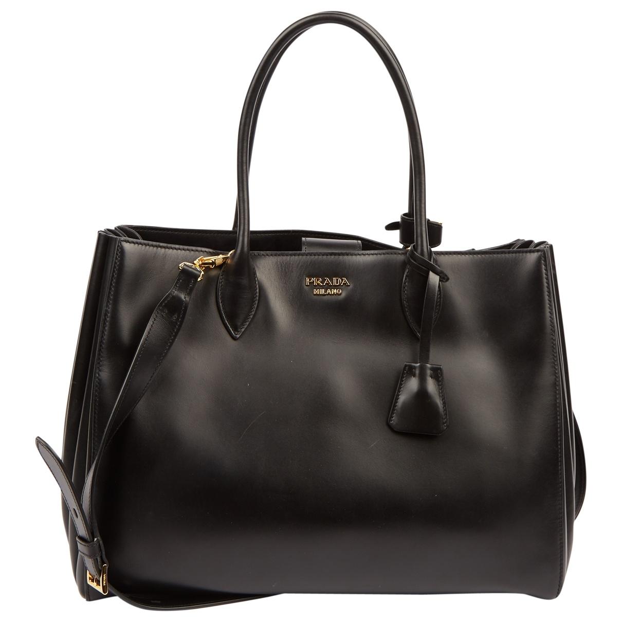 Prada Bibliothèque Black Leather handbag for Women \N