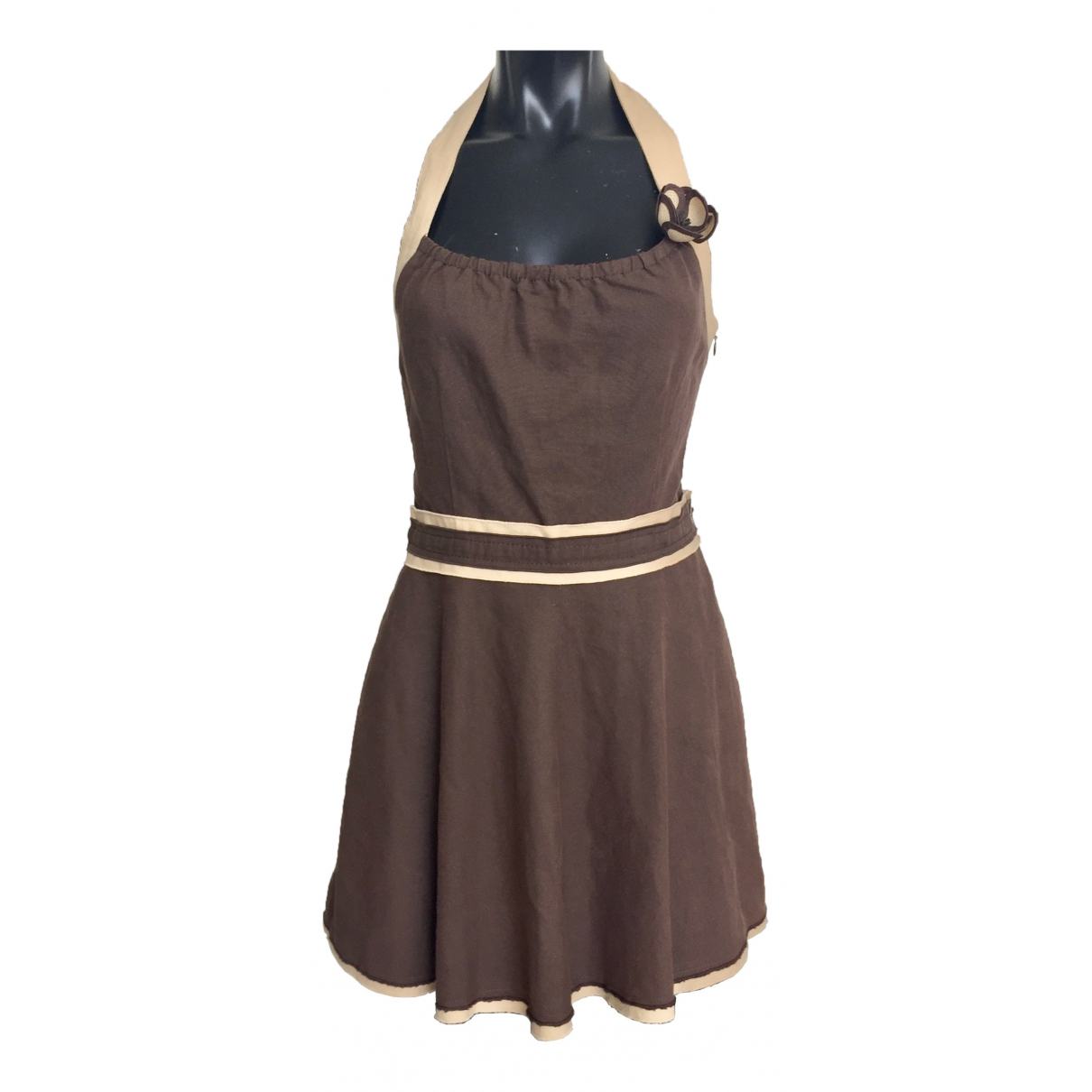 Moschino Cheap And Chic \N Brown Cotton dress for Women 38 FR