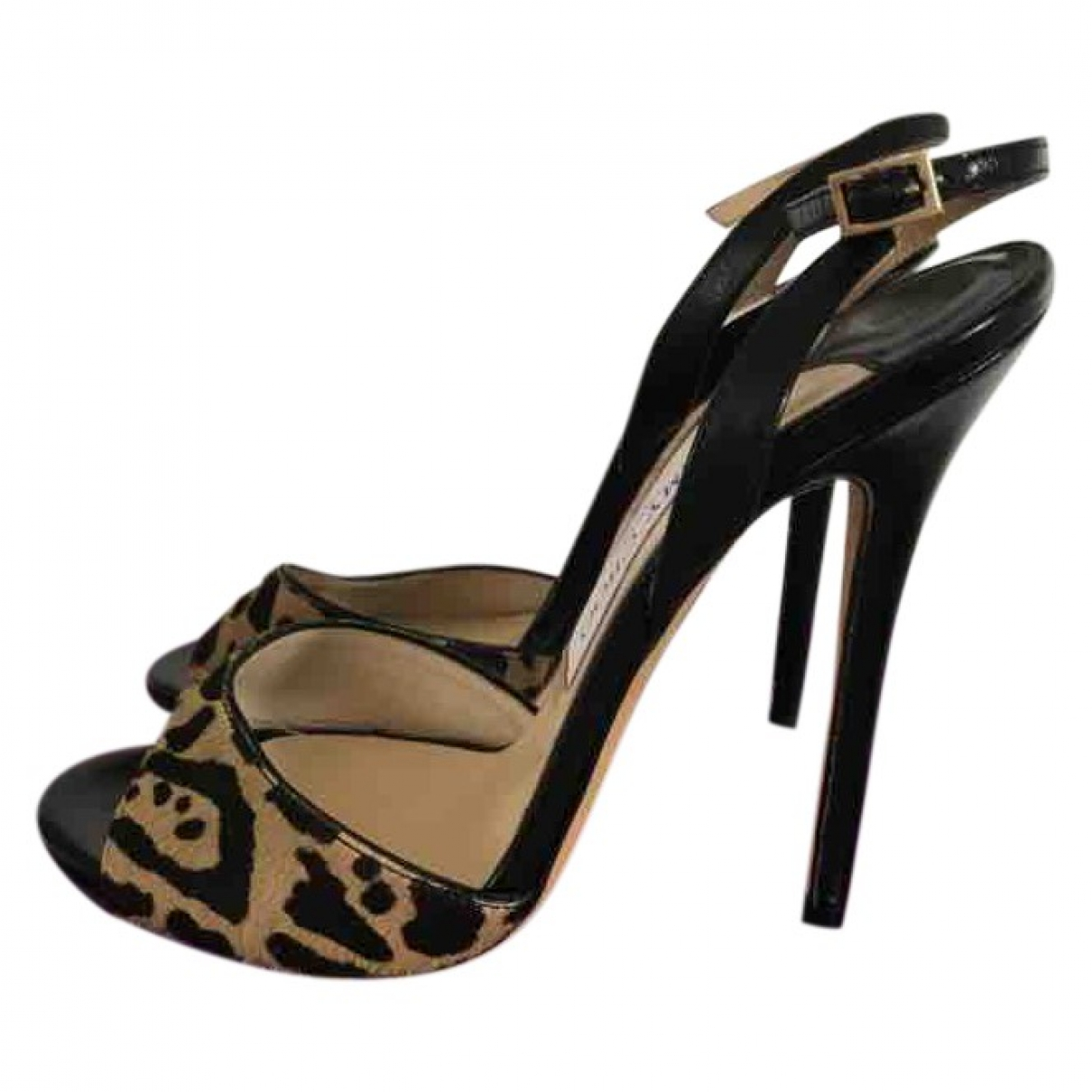 Jimmy Choo - Sandales   pour femme en cuir exotique - noir