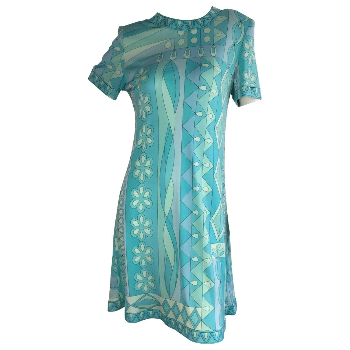 Bessi - Robe   pour femme en soie - bleu