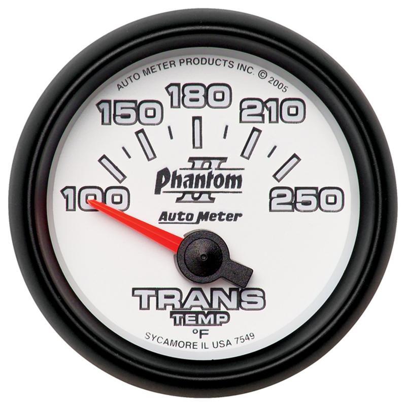 AutoMeter GAUGE; TRANSMISSION TEMP; 2 1/16in.; 100-250deg.F; ELECTRIC; PHANTOM II