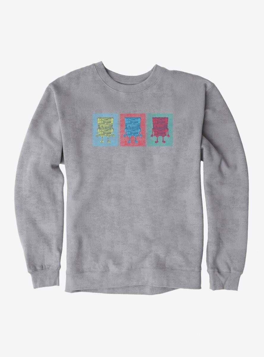 SpongeBob SquarePants Multicolor Silhouettes Sweatshirt