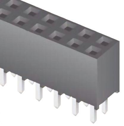 Samtec , SQT 2mm Pitch 6 Way 2 Row Straight PCB Socket, Through Hole, Solder Termination
