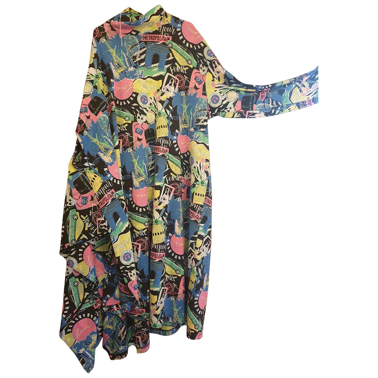 Balenciaga \N Kleid in  Bunt Baumwolle - Elasthan