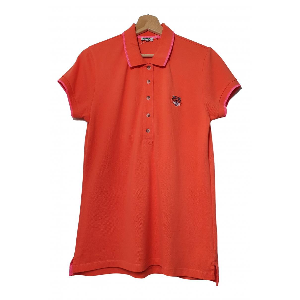 Kenzo - Top   pour femme en coton - orange