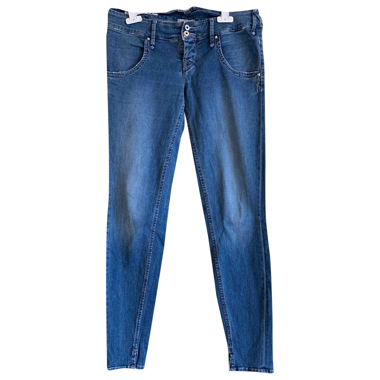 Cycle \N Blue Cotton - elasthane Jeans for Women 40 FR