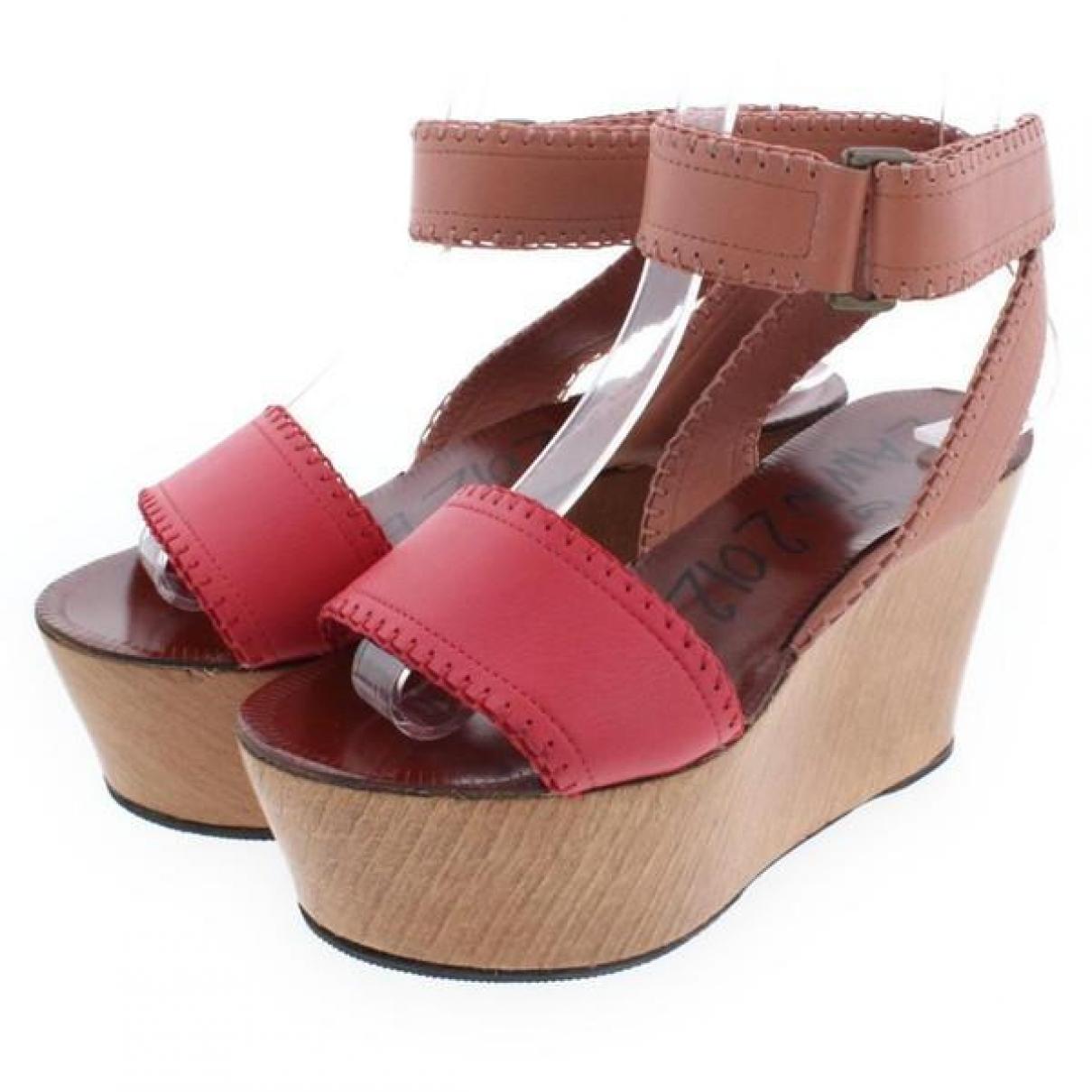 Lanvin - Sandales   pour femme en cuir - multicolore