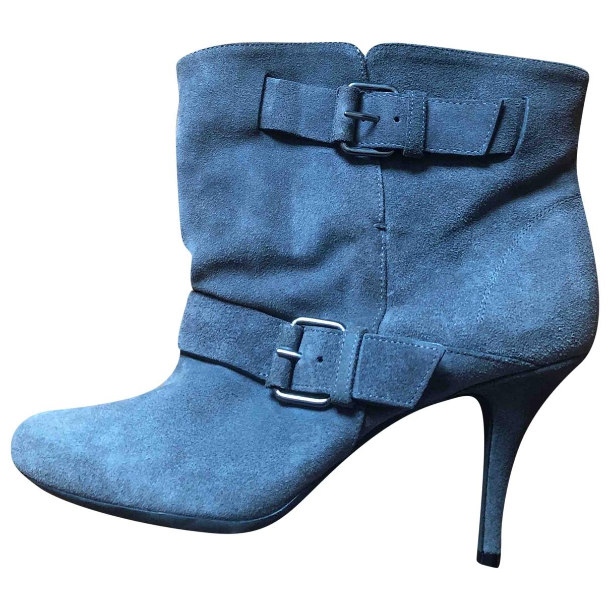 Givenchy - Bottes   pour femme en suede - gris