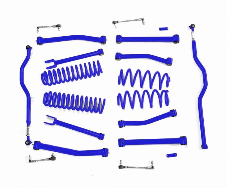 Steinjager J0047744 Lift Kit, Right Hand Drive Wrangler JK 2007-2018 4 Inch Southwest Blue