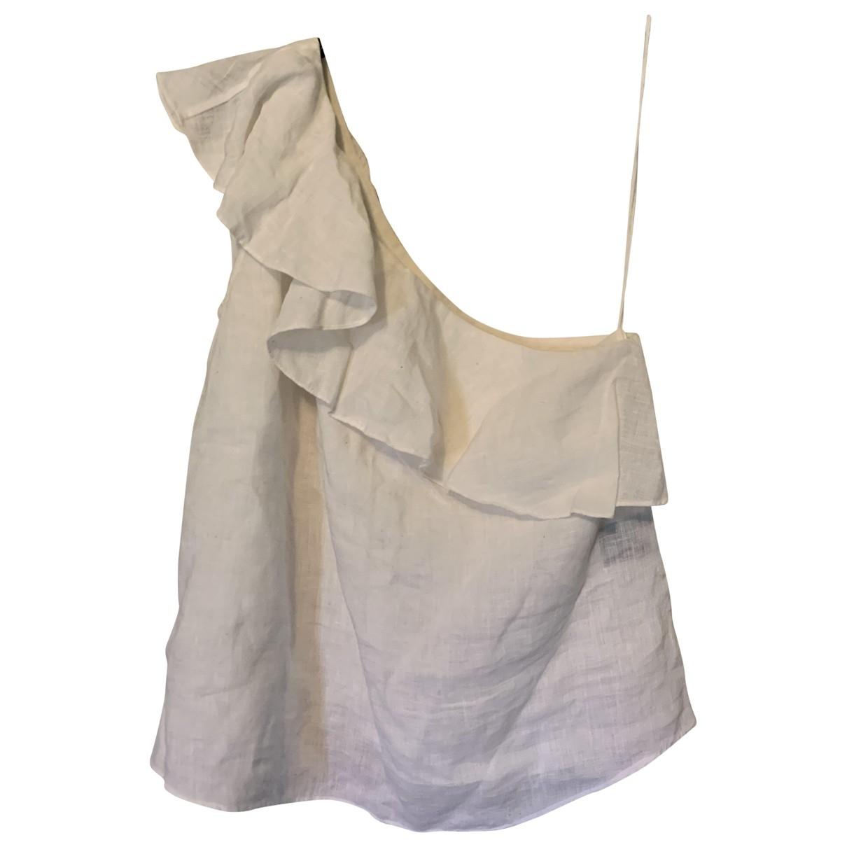 Isabel Marant Etoile - Top   pour femme en lin - blanc