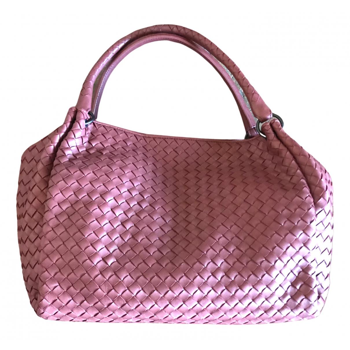Bottega Veneta - Sac a main   pour femme en cuir - rose