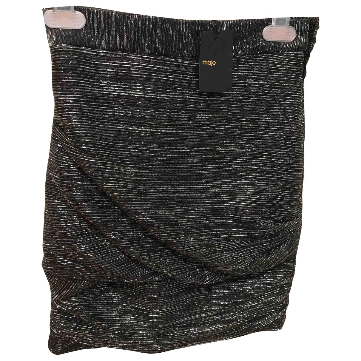 Maje \N Silver skirt for Women 34 FR