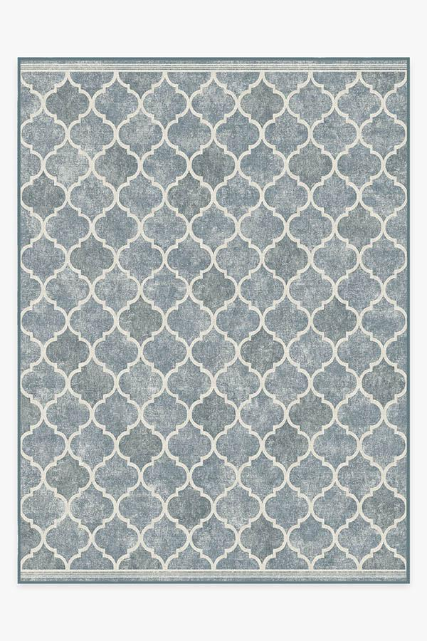 Washable Rug Cover | Terali Slate Rug | Stain-Resistant | Ruggable | 9'x12'