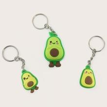 3pcs Avocado Charm Keychain