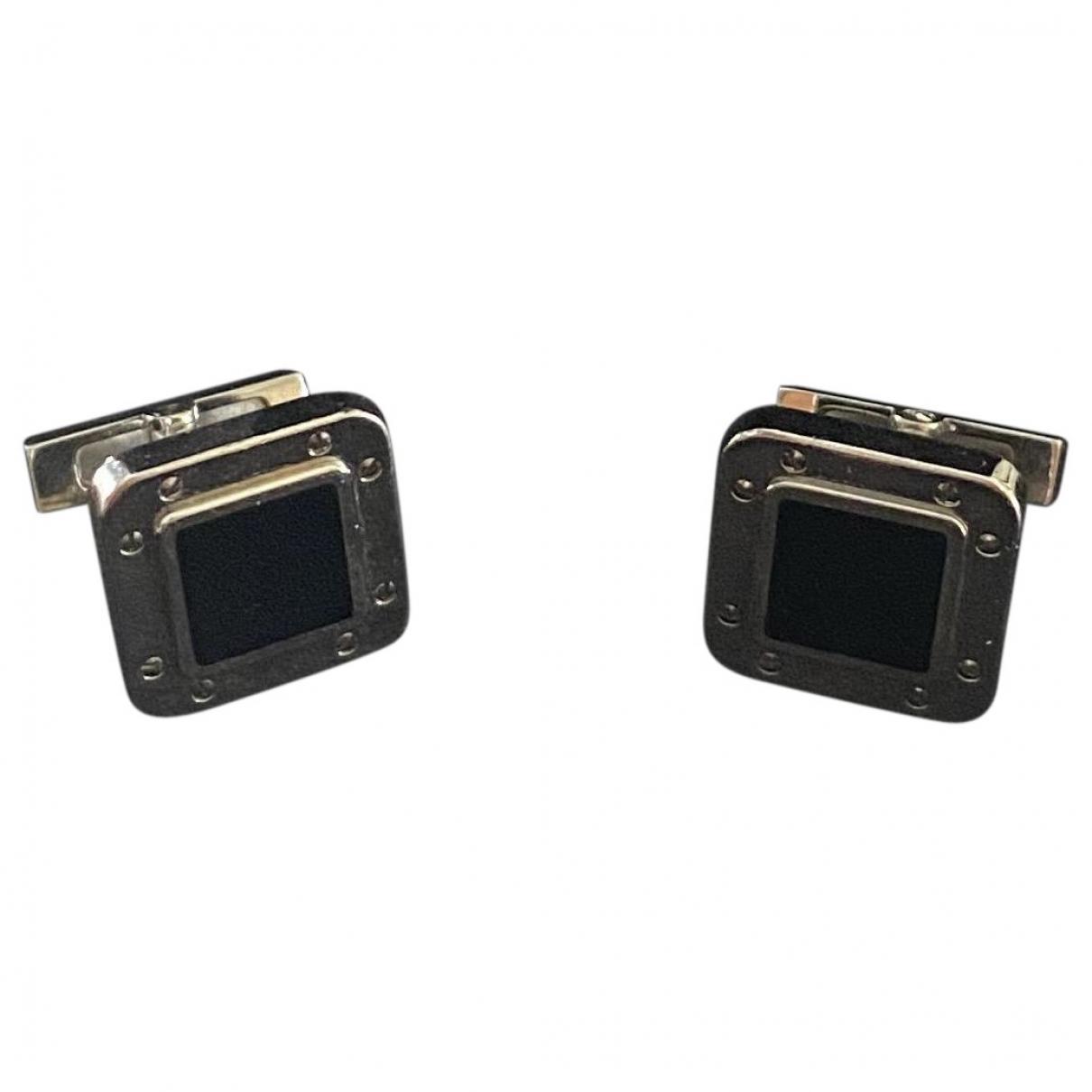 Cartier \N Black Silver Cufflinks for Men \N
