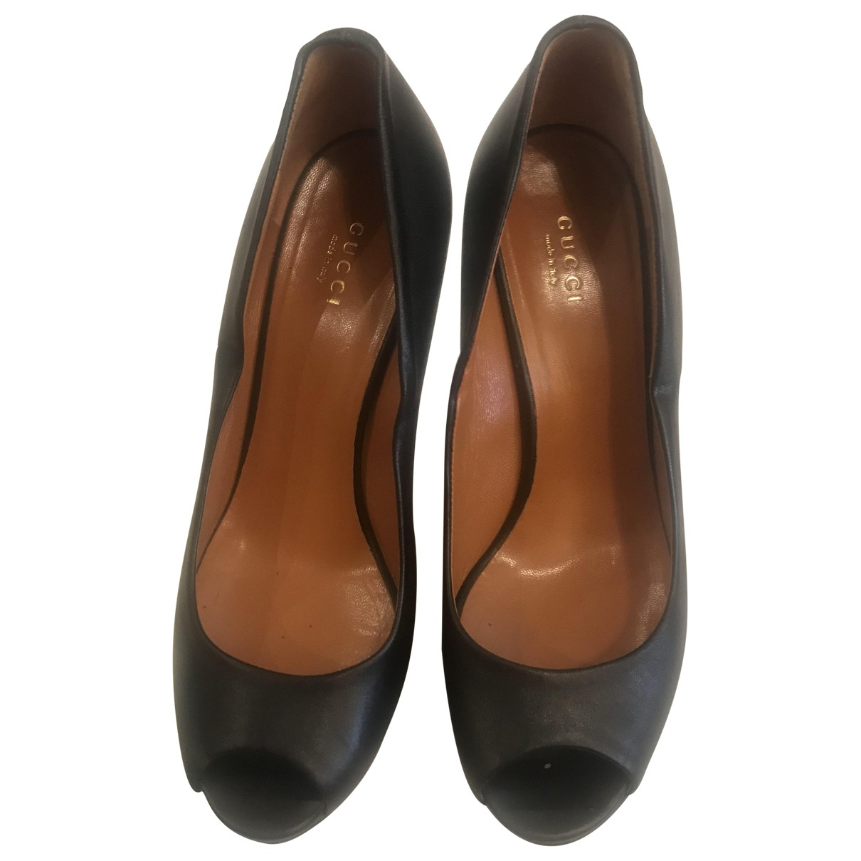 Gucci \N Black Leather Heels for Women 39 IT