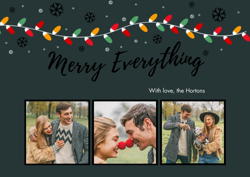 Christmas Photo Cards Set of 20, Premium 5x7 Foil Card, Card & Stationery -Merry Everything