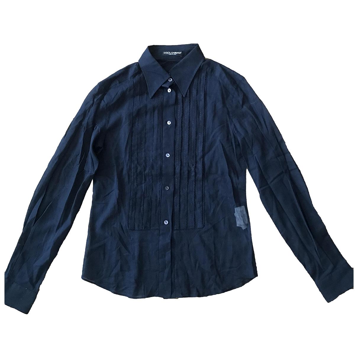 Dolce & Gabbana \N Blue Cotton  top for Women 44 IT