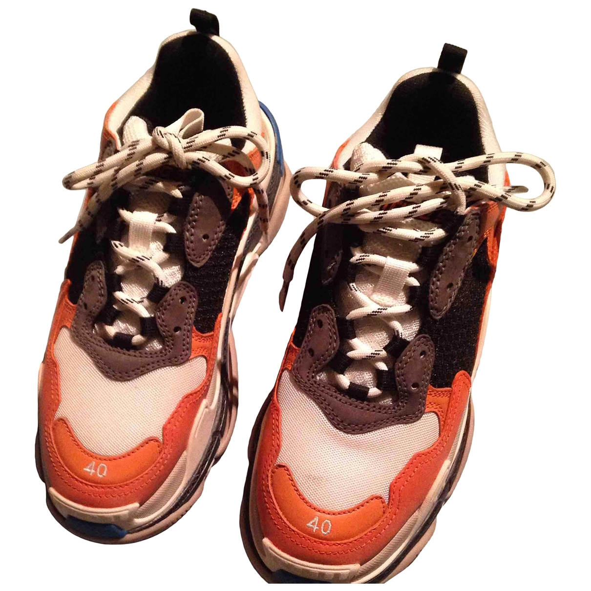 Balenciaga - Baskets Triple S pour femme en cuir