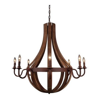 Pasquale Collection RM-1008-24 Pendant Lamp with Solid Eucalyptus in Natural
