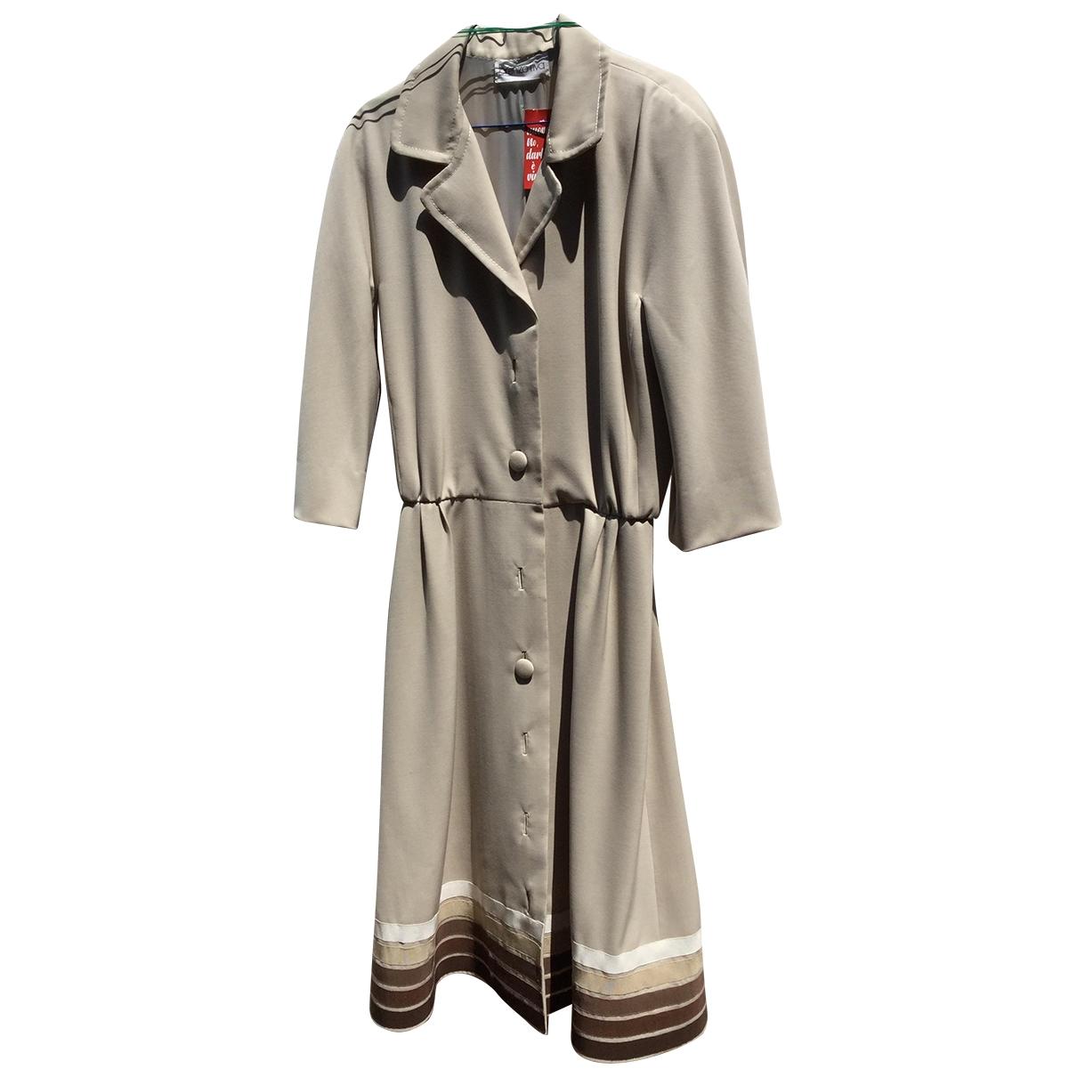 Non Signé / Unsigned \N Beige coat for Women 46 IT