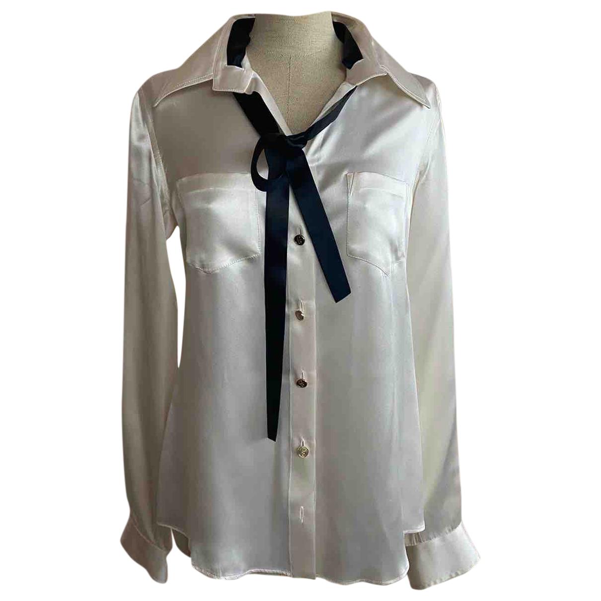 Dolce & Gabbana N White Silk  top for Women 44 IT