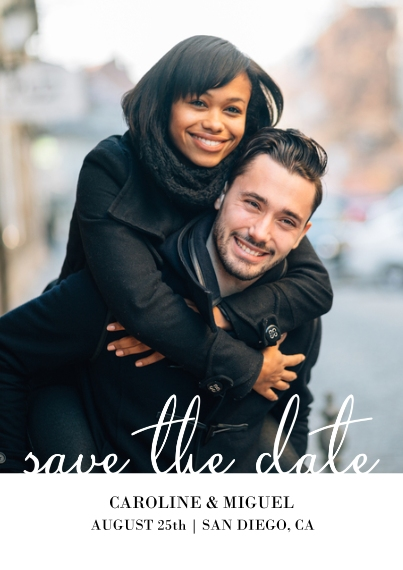 Save the Date Flat Matte Photo Paper Cards with Envelopes, 5x7, Card & Stationery -Simple Save The Date