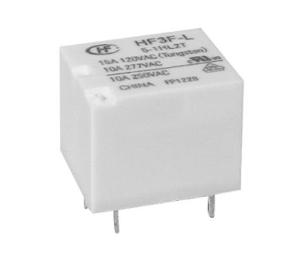 Hongfa Europe GMBH SPDT PCB Mount Latching Relay - 10 A, 10 A, 12V dc (2)