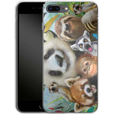 Apple iPhone 7 Plus Silikon Handyhuelle - Zoo Selfie von Howard Robinson