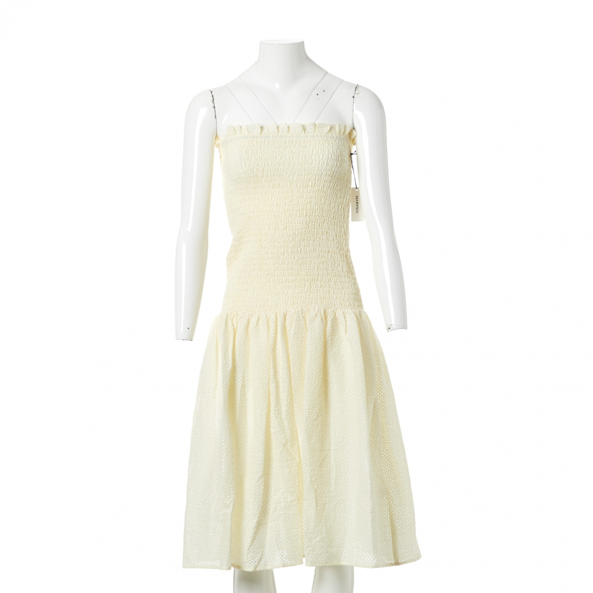 Marysia \N Kleid in  Ecru Leinen