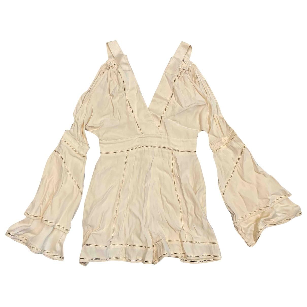 Non Signé / Unsigned \N Beige jumpsuit for Women L International