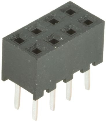 Hirose , A3C 2mm Pitch 8 Way 2 Row Straight PCB Socket, Through Hole, Solder Termination (5)
