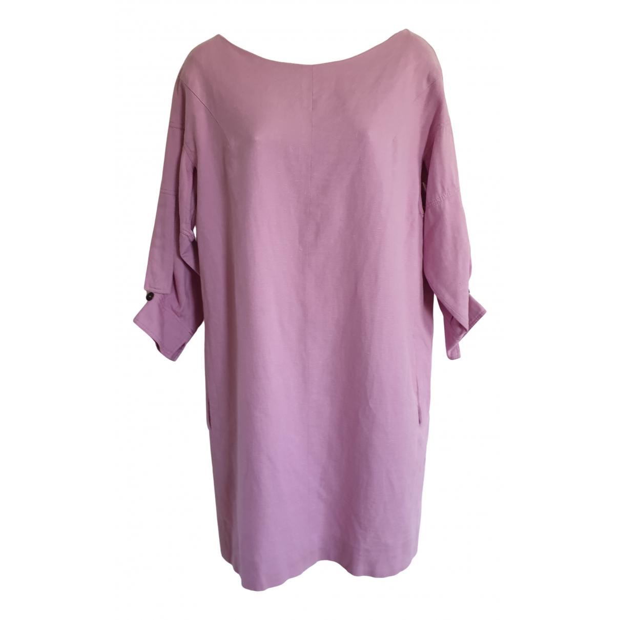 Chloe \N Kleid in  Rosa Leinen