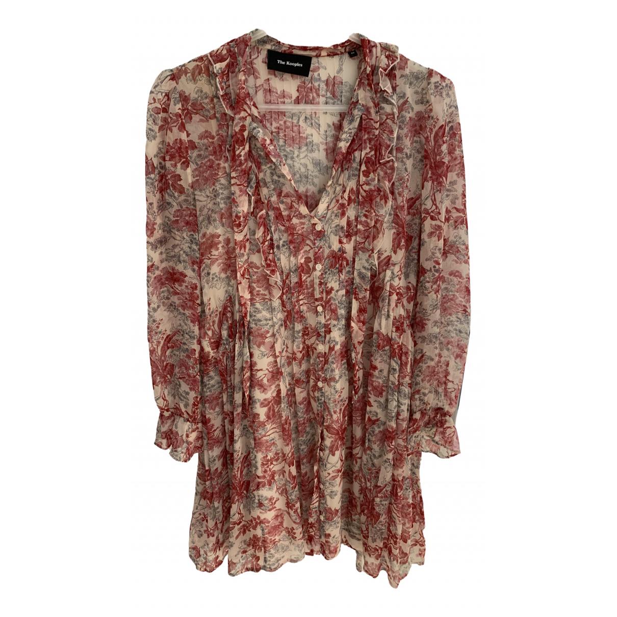 The Kooples - Robe   pour femme en soie - multicolore