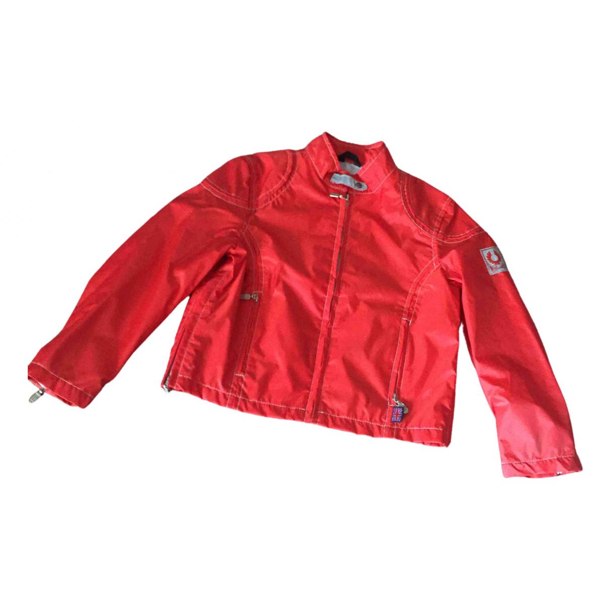 Abrigo, Chaqueta en Poliester Rojo Belstaff