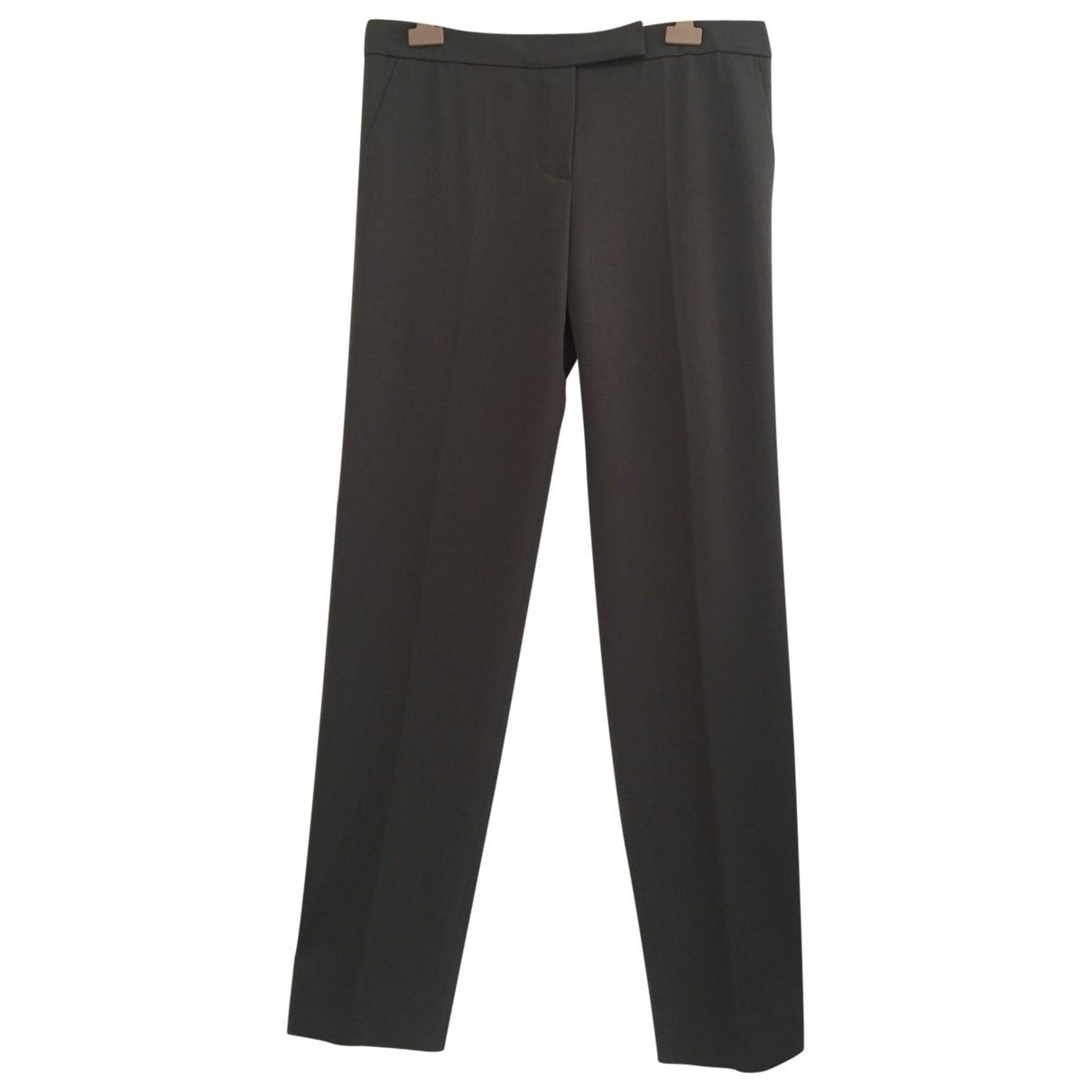 Chloé \N Khaki Wool Trousers for Women 42 FR
