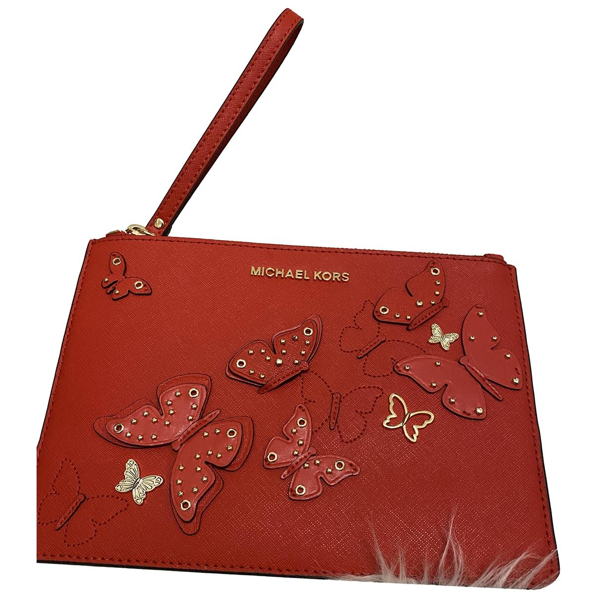 Michael Kors Jet Set Red Leather Clutch bag for Women \N