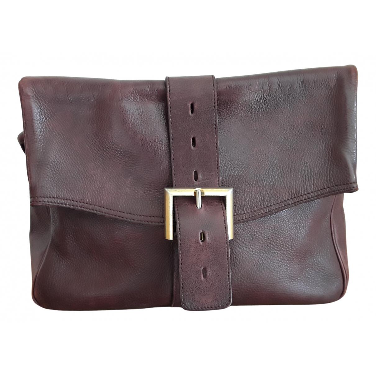 Delvaux Le Brillant Handtasche in  Bordeauxrot Leder