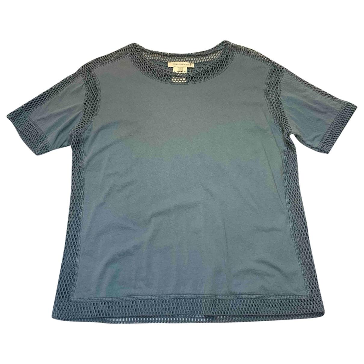 Pierre Balmain \N Pullover.Westen.Sweatshirts  in  Blau Baumwolle