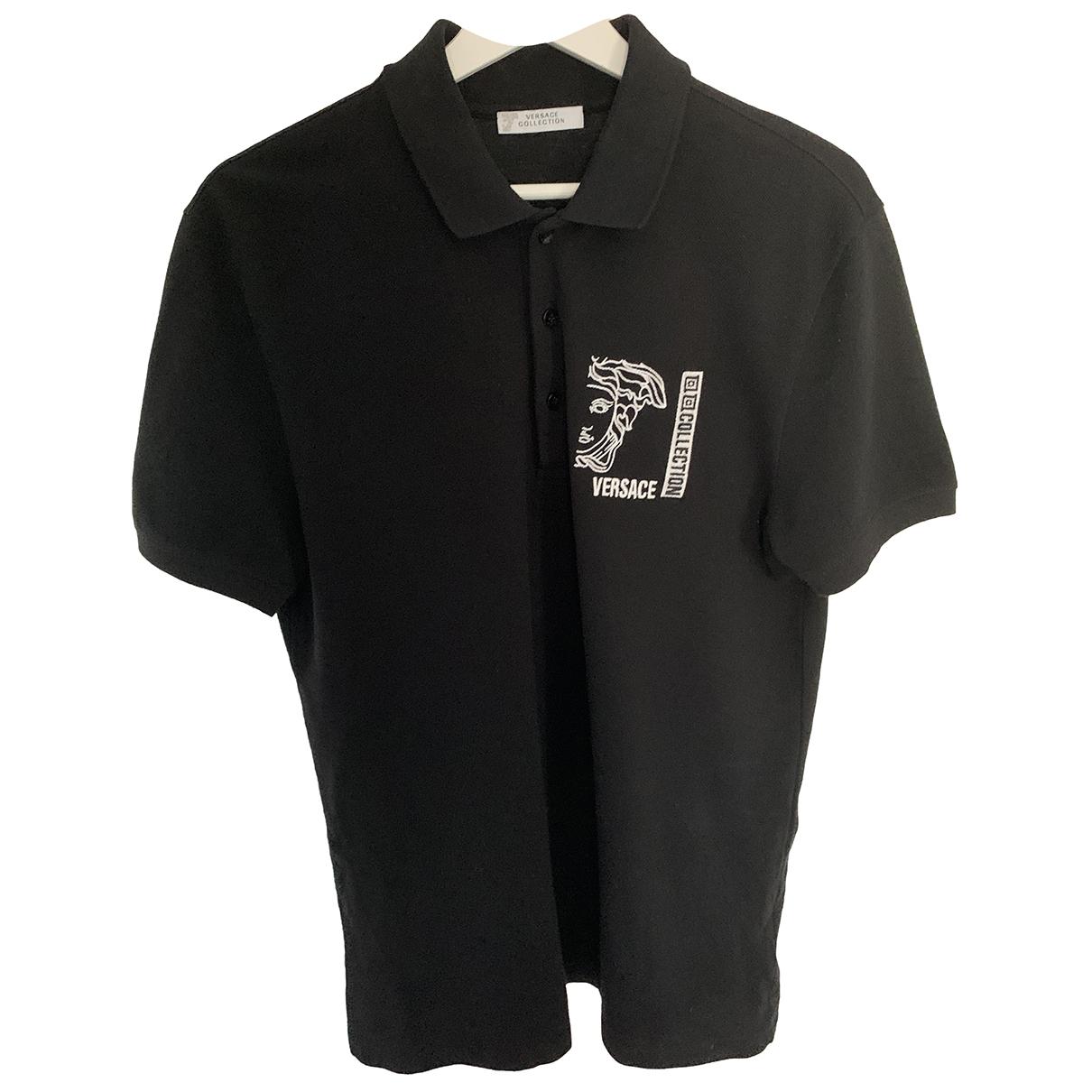 Versace \N Poloshirts in  Schwarz Baumwolle