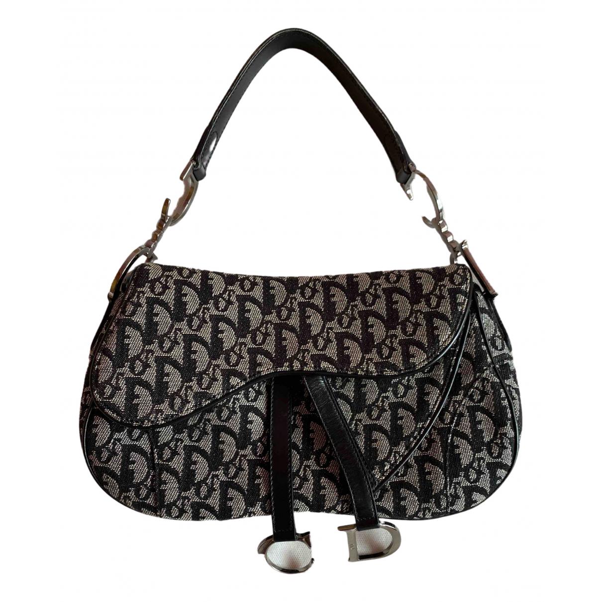 Dior - Sac a main Saddle pour femme en denim - noir