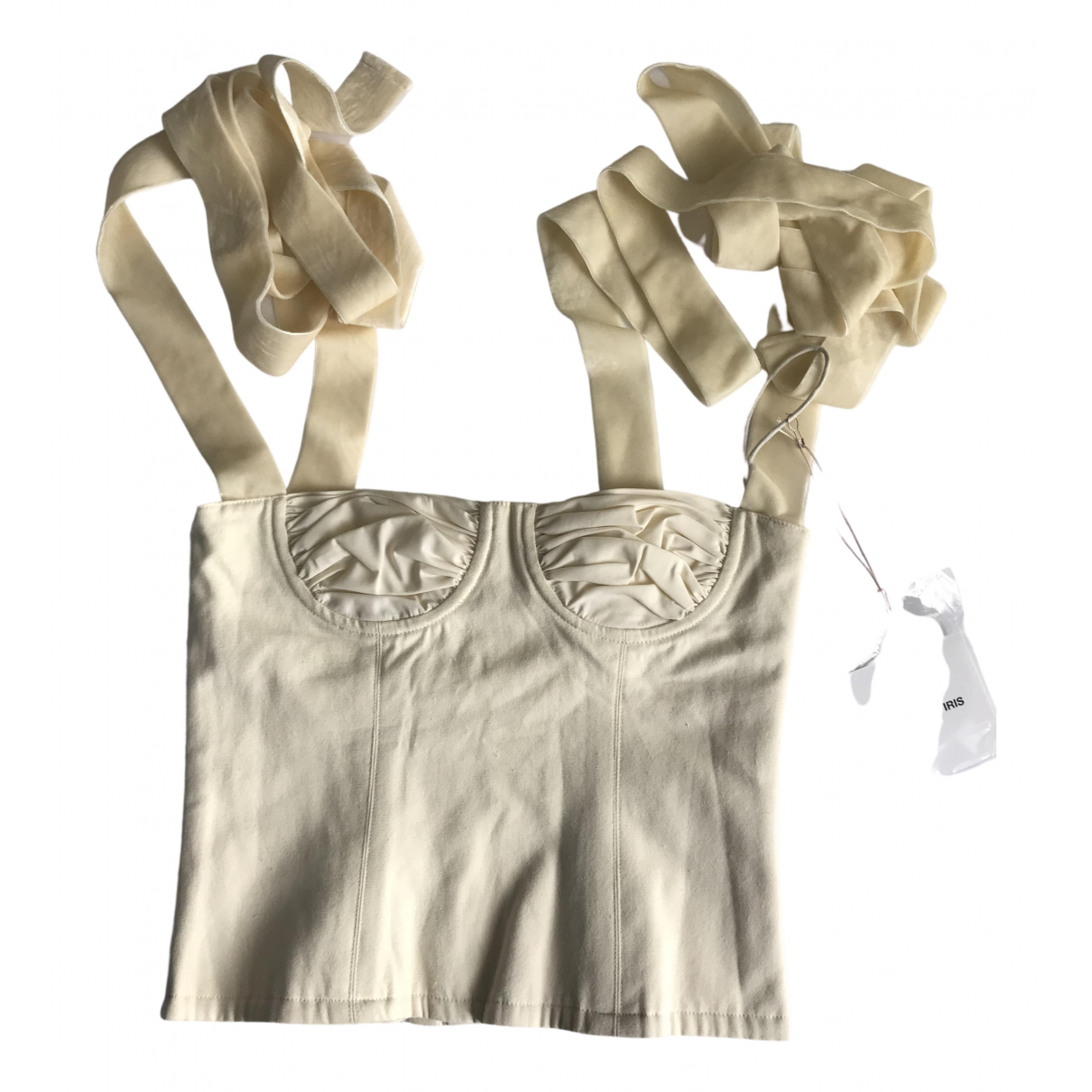 Orseund Iris - Top   pour femme en coton - blanc
