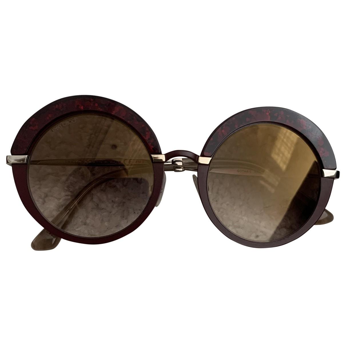 Jimmy Choo \N Sonnenbrillen in  Rot Kunststoff