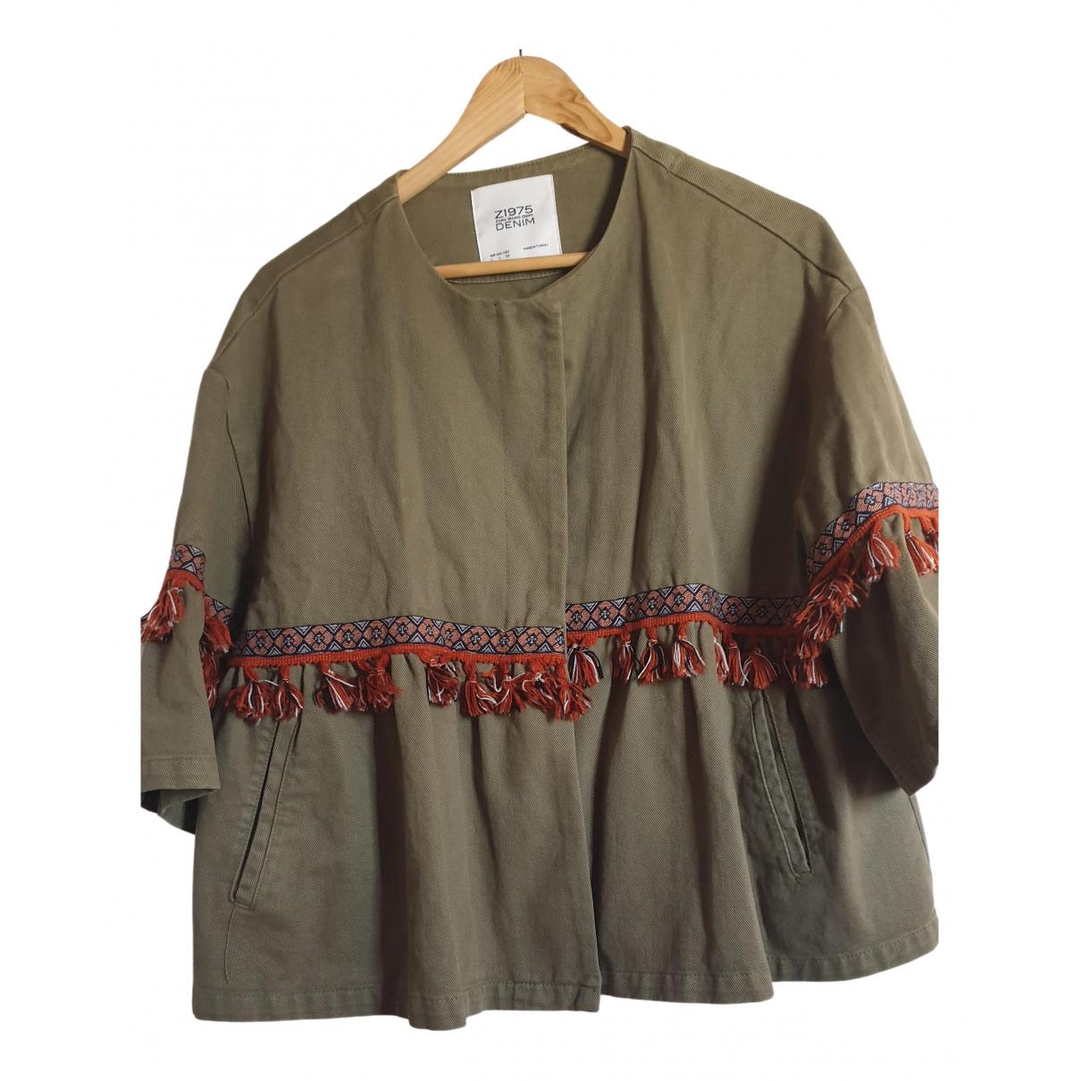 Zara \N Khaki Denim - Jeans jacket for Women L International