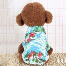 1pc Flower Print Dog Shirt