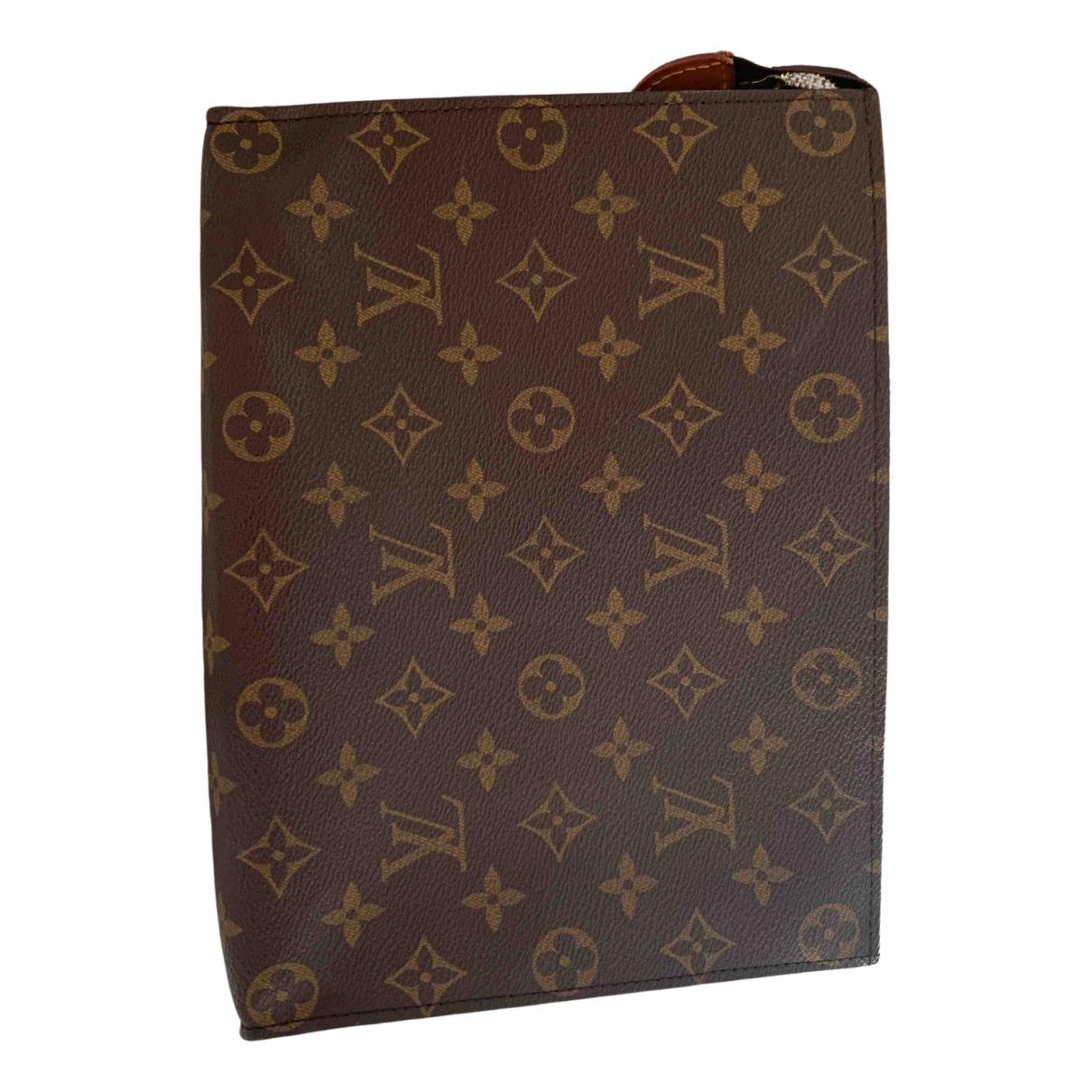 Louis Vuitton Poche toilette Reisetasche in  Braun Leinen